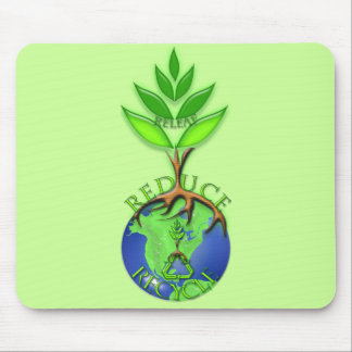 Reuse Reduce Recycle Tree Earth Globe Mouse Pad