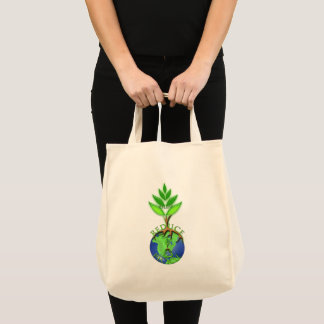 Reuse Reduce Recycle Tree Earth Globe Tote Bag