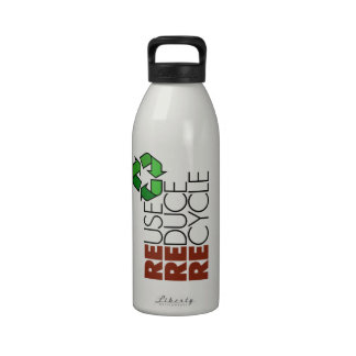 Reuse Reduce Recycle Water Bottle 32 oz.