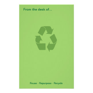 Reuse - Repurpose - Recycle Stationary Stationery