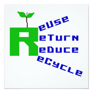 Reuse Return Reduce Recycle T shirts and Gifts Card