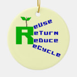 Reuse Return Reduce Recycle T shirts and Gifts Ornaments