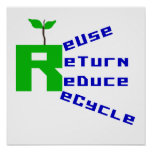 Reuse Return Reduce Recycle T shirts and Gifts Posters