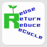Reuse Return Reduce Recycle T shirts and Gifts Sticker