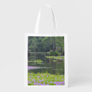 reussable bag with swamp scene