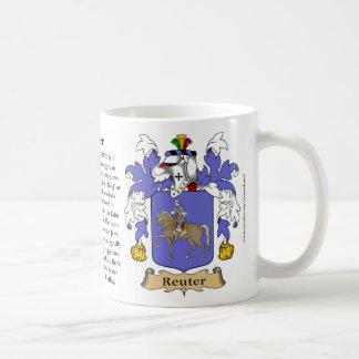 Reuter, el origen, el significado y el escudo taza de café