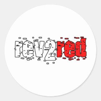 Rev 2 Red Classic Round Sticker