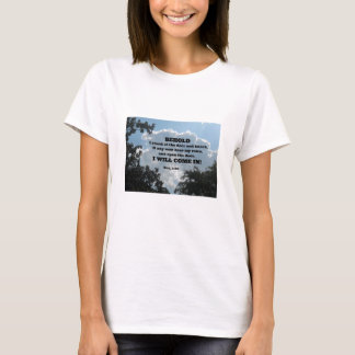 Rev. 3:20 Behold I stand at the door and knock... T-Shirt