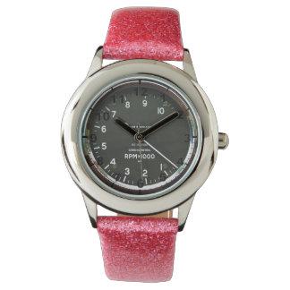 """Rev counter"" design wrist watches"