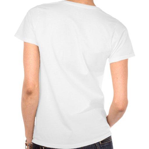 Rev. femenino al alboroto camiseta