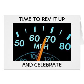 """REV IT UP"" AND ""HAVE FUN"" CONGRATULATIONS CARD"