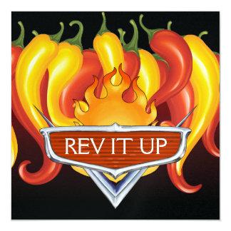 Rev It Up! - BBQ - Barbecue Invitation