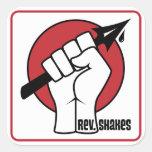 Rev. Shakes Spear Logo (Square) Sticker