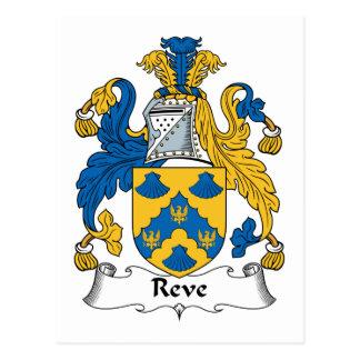 Reve Family Crest Postcard