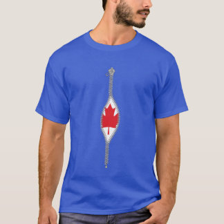reveal canadian flag under the shirt