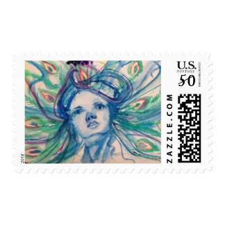 """Reveal"" Watercolor US Postage Stamp"