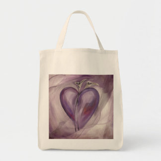 Revealing Heart Grocery Tote Bag