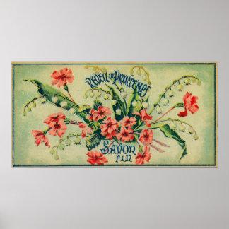 Reveil De Printemps Soap LabelParis, France Poster