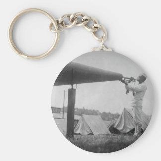 Reveille - Navy Training, Seattle (ca 1917) Basic Round Button Keychain