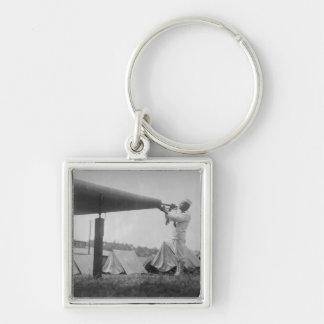Reveille - Navy Training, Seattle (ca 1917) Silver-Colored Square Keychain