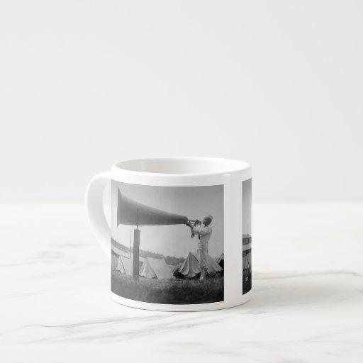 Reveille - Navy Training, Seattle (ca 1917) 6 Oz Ceramic Espresso Cup