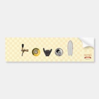 revel brewing company bumper car bumper sticker