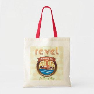 revel brewing company sack tote bag