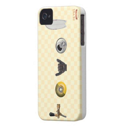 revel el caso del iPhone de la compañía de la elab iPhone 4 Case-Mate Protectores