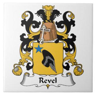 Revel el escudo de la familia azulejo cuadrado grande