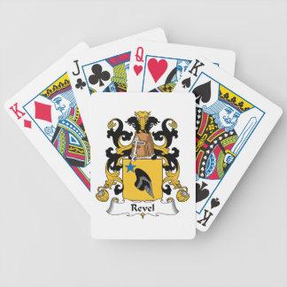 Revel el escudo de la familia cartas de juego