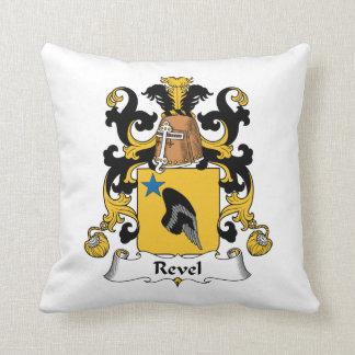 Revel el escudo de la familia cojines