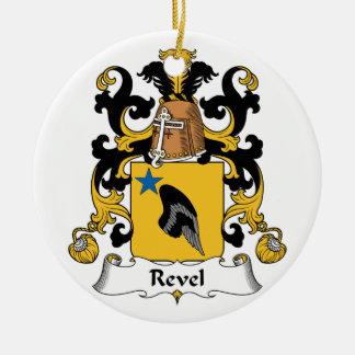 Revel el escudo de la familia adorno redondo de cerámica