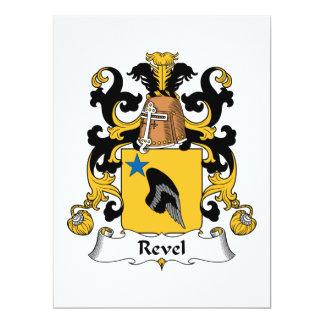 """Revel el escudo de la familia invitación 6.5"""" x 8.75"""""""