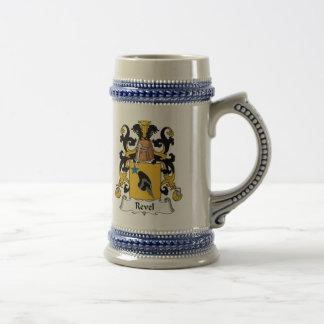 Revel el escudo de la familia jarra de cerveza