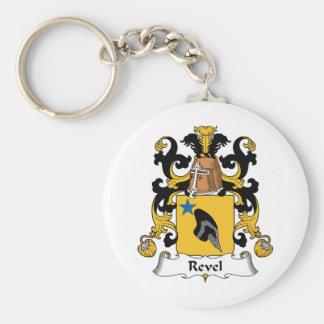 Revel el escudo de la familia llavero redondo tipo pin