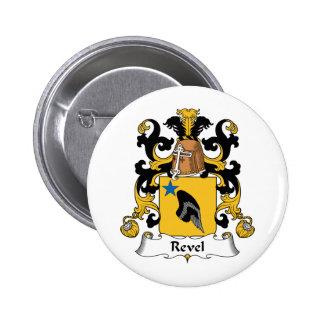 Revel el escudo de la familia pin redondo 5 cm