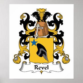 Revel el escudo de la familia póster