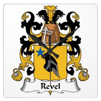 Revel el escudo de la familia reloj cuadrado