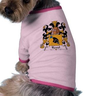 Revel el escudo de la familia camiseta con mangas para perro