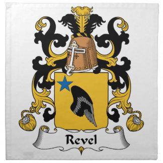Revel el escudo de la familia servilletas