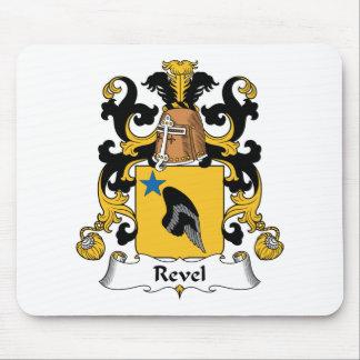Revel el escudo de la familia tapete de ratón