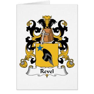 Revel el escudo de la familia tarjeta de felicitación