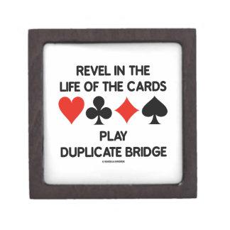 Revel In The Life Of Cards Play Duplicate Bridge Keepsake Box