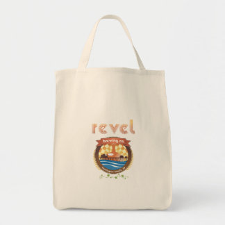 revel, reduce, reuse, recycle tote bag