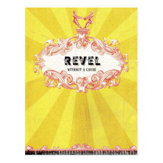 Revel Without a Cause (Postcard) Postcard