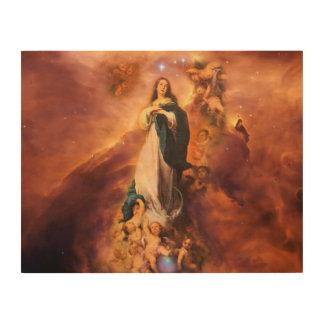 REVELACIÓN 12,1 IMPRESIÓN EN MADERA