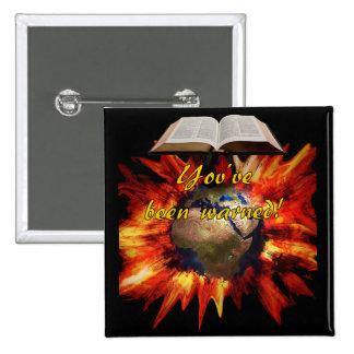 Revelación bíblica pin cuadrada 5 cm