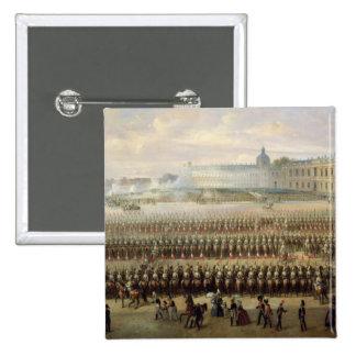 Revelación del monumento de Paulo I en Gatchina Pin Cuadrada 5 Cm