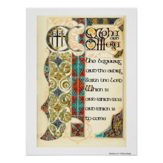 Revelaciones 1 Poster del arte del verso de 8 bib