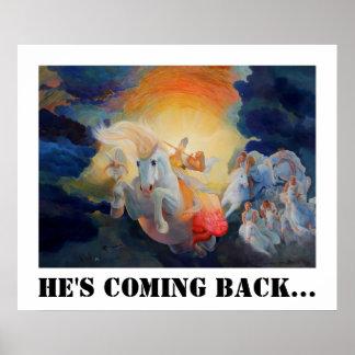 Revelation 19 He's Coming Back... Poster